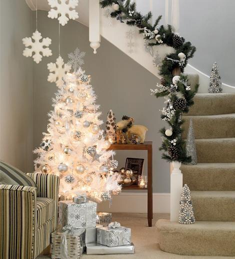Decoración de Navidad en blanco 2020
