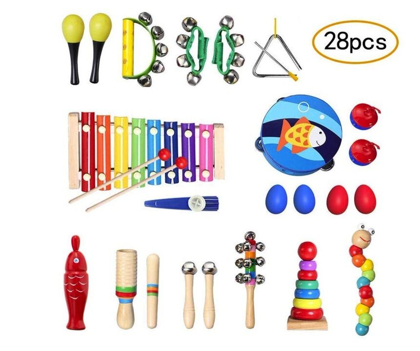 Set de 28 juguetes de instrumentos musicales de Topersun