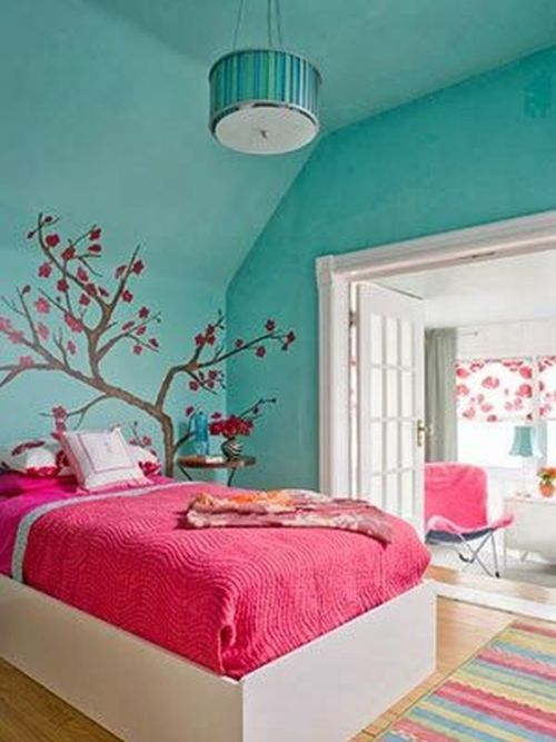 como-decorar-con-paredes-en-verde-agua-dormitorio-juvenil-ideaspara