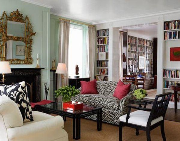 como-decorar-con-paredes-en-verde-agua-espejo-dorado-cafeversatil