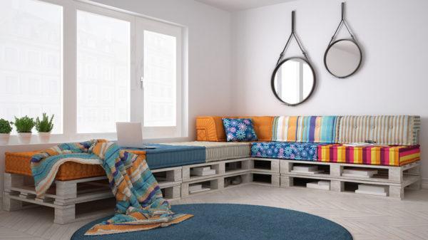 Ideas para hacer y decorar sillones de palets de madera indie