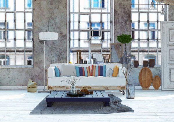 Ideas para hacer y decorar sillones de palets de madera industrial