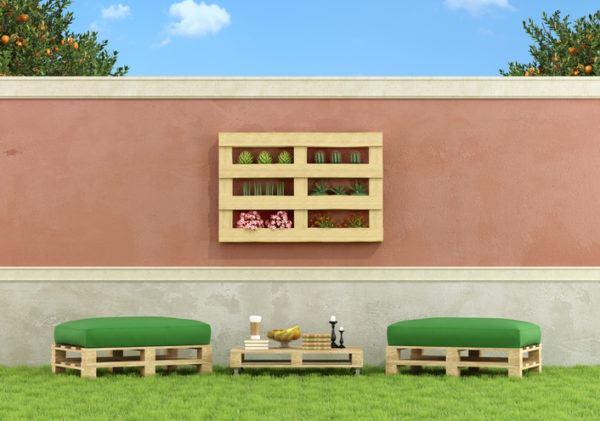 Ideas para hacer y decorar sillones de palets de madera jardin