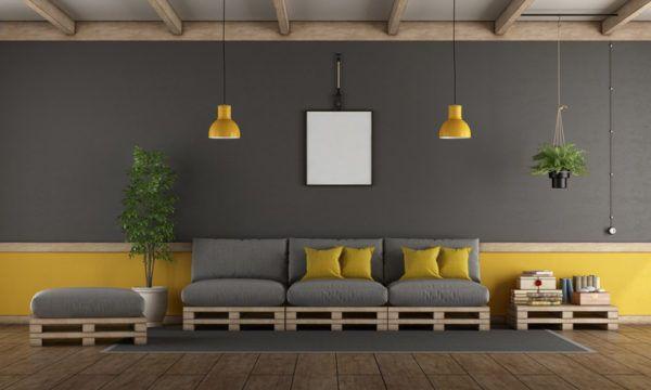 Ideas para hacer y decorar sillones de palets de madera marron