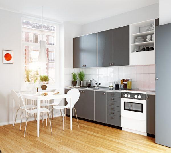 Cocinas pequenas 2021 blanca y negra