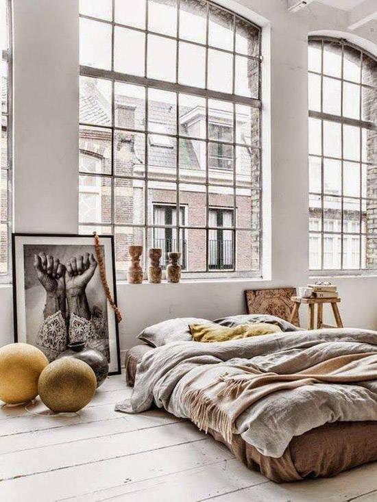 decoracion-industrial-ideas-cama-cuadro-nom-adbubles
