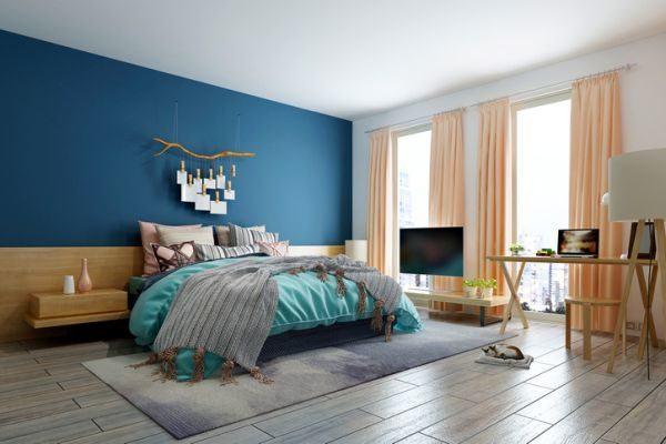 decorar-la-pared-del-dormitorio-colgante-istock