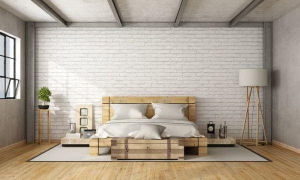 decorar-la-pared-del-dormitorio-ladrillos-blancos-istock