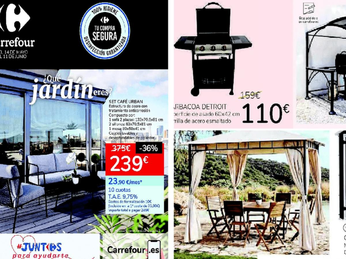 Foto 1 oferta conjunto exterior Carrefour hasta 11 julio