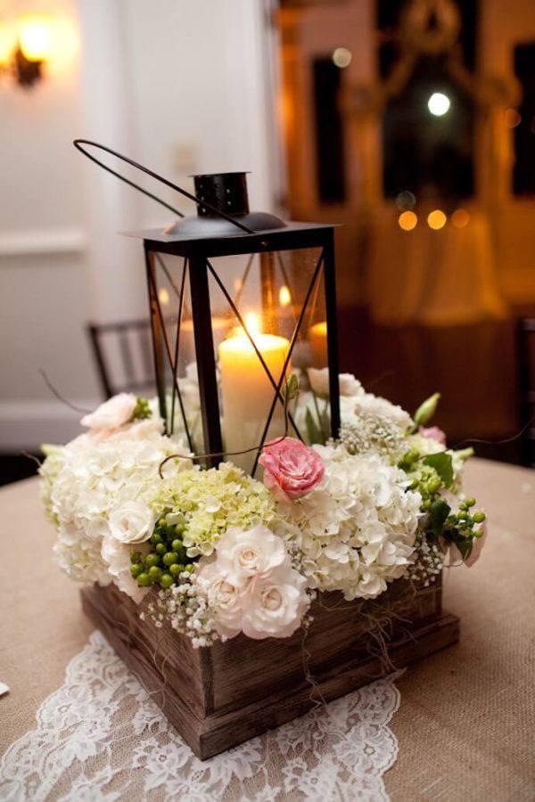 Como hacer arreglo floral centro mesa flores encima vela