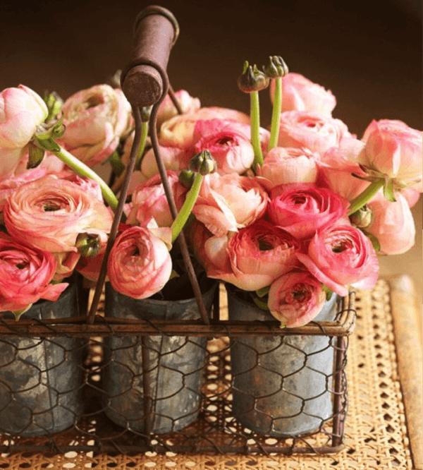 Como hacer arreglo floral centro mesa flores metal