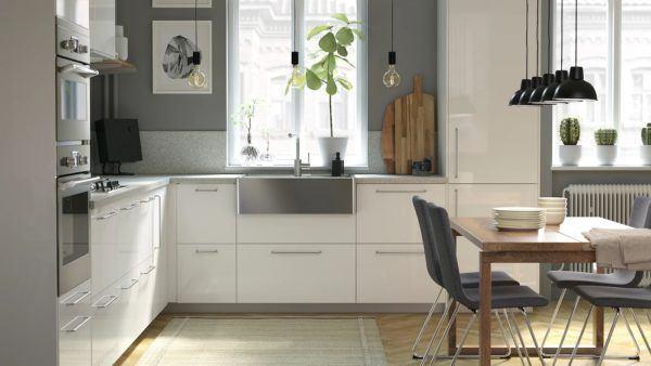 Cocinas integrales pequenas cocina blanca de ikea
