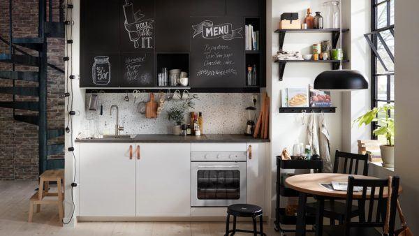 Cocinas integrales pequenas cocina blanca pequeña de ikea