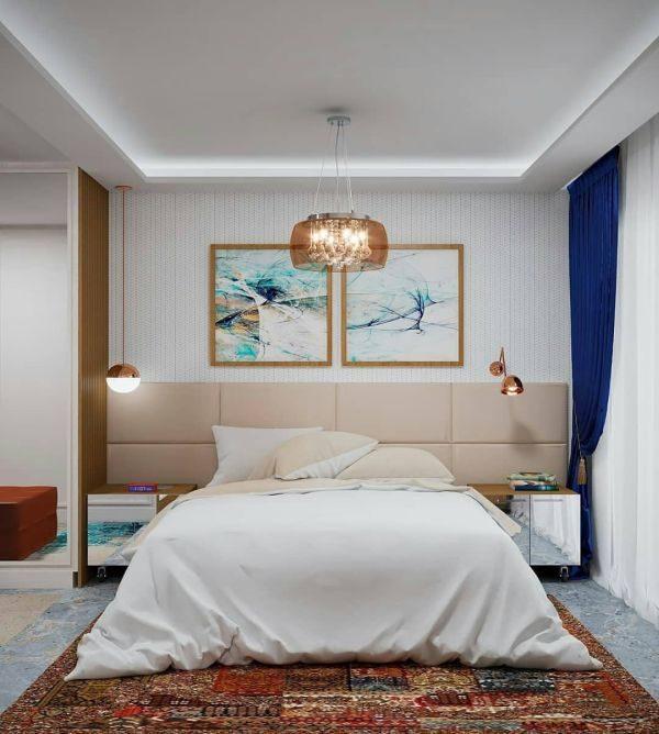 como-decorar-pared-del-dormitorio-cuadros2-instagram-ideias-para-dormitorios