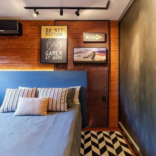 como-decorar-pared-del-dormitorio-ladrillo-instagram-ideias-para-dormitorios