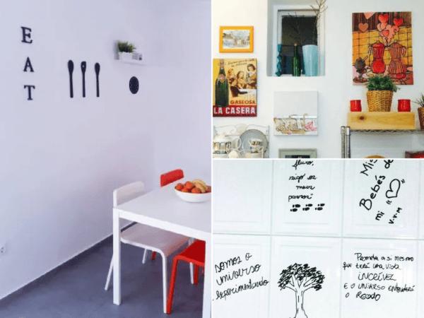 Cómo decorar la pared de la cocina sin taladrar