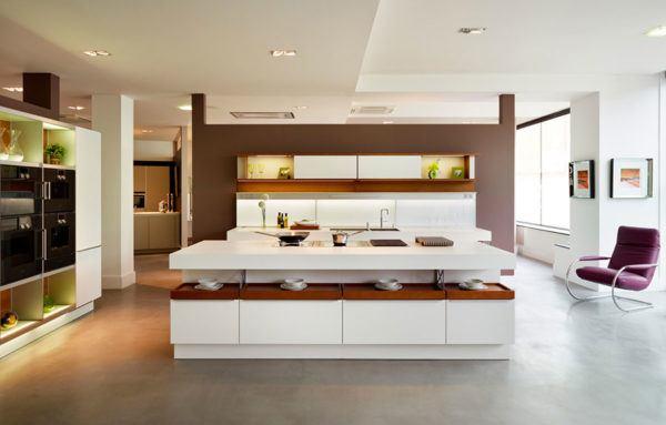 FOTOS de cocinas con isla central diseño amplio