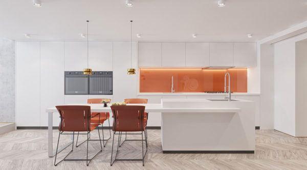 FOTOS de cocinas con isla central diseño blanca