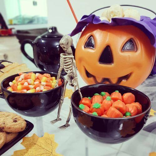 Dulces para la mesa de halloween