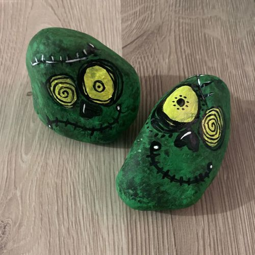 Piedras de monstruos Halloween