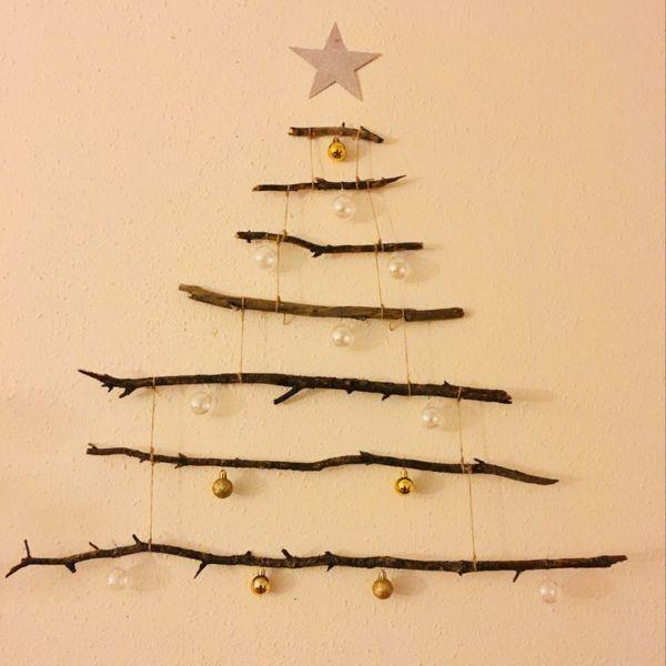 Árboles de Navidad de pared 2020 con ramas