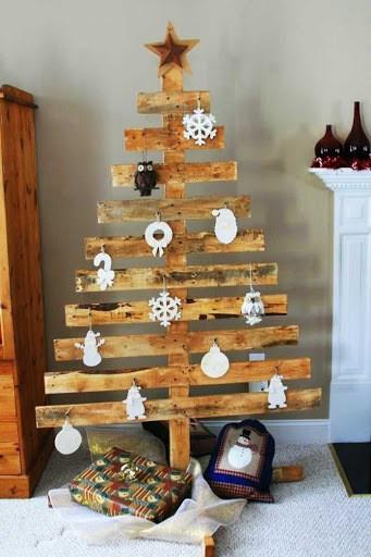 Árboles de Navidad de pared 2020 de madera
