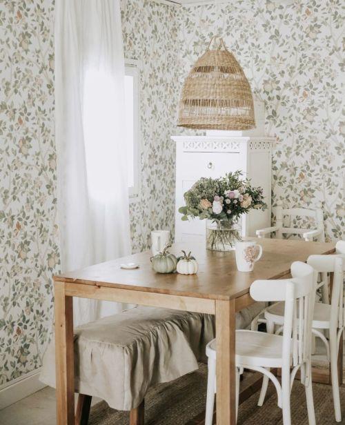 Mesa decorada al estilo campestre