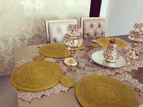 Lamparitas para decorar la mesa del comedor