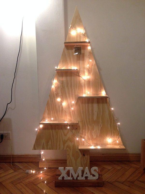 Cómo decorar un árbol de Navidad de Madera 2020 con luces