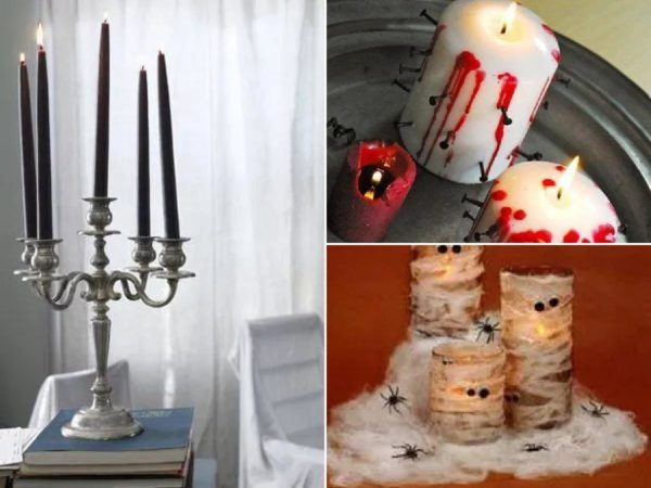 Decorar con velas Halloween