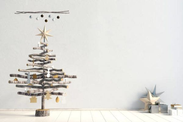 Arboles de navidad decorados 2020 2021 arbol madera con ramas