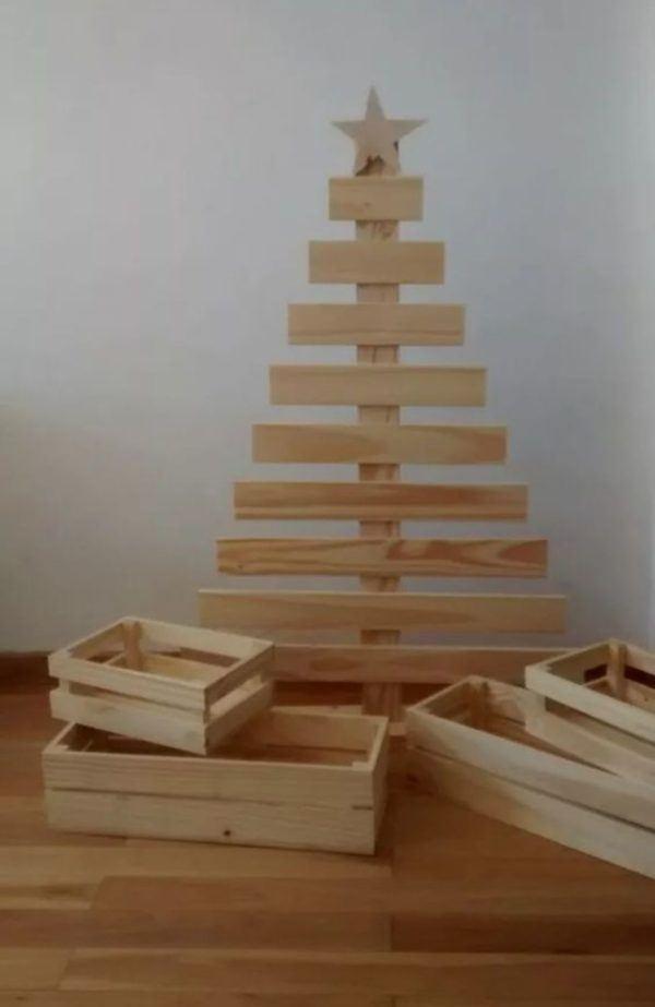 Arboles de navidad decorados 2020 2021 arbol madera palets