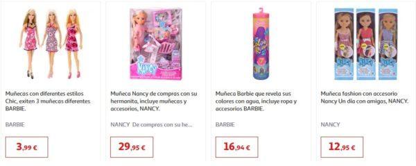 Catalogo juguetes alcampo navidad 2020 barbies nancy