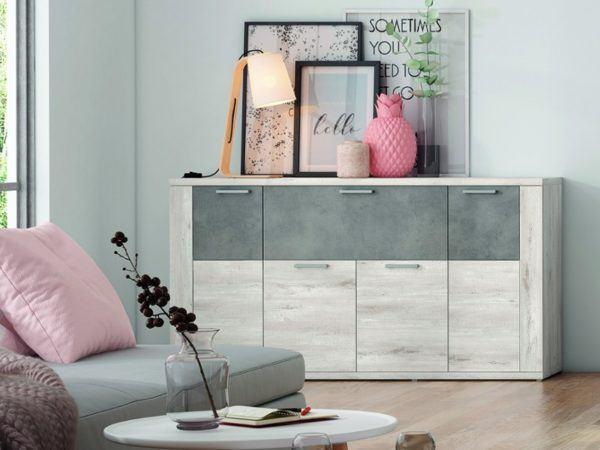 Catalogo merkamueble enero 2021 aparador diseno moderno colores azahar cemento