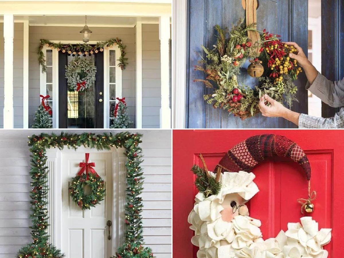 Cómo decorar una puerta de Navidad 2020