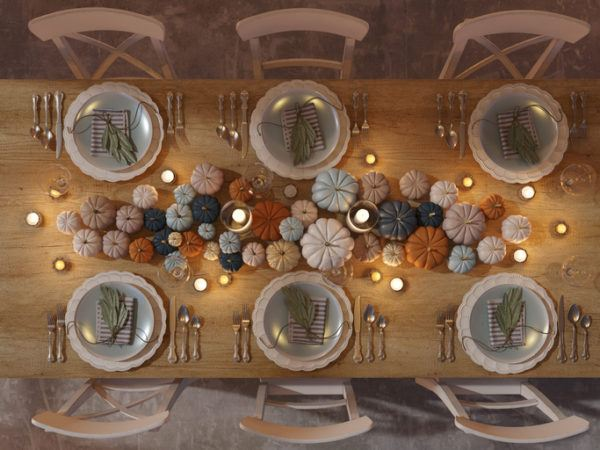 Decoracion de mesa accion de gracias centros de mesa