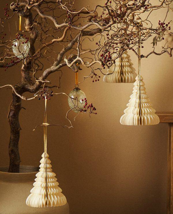 Decoracion de navidad 2020 2021 decoracion arbol de papel zara home