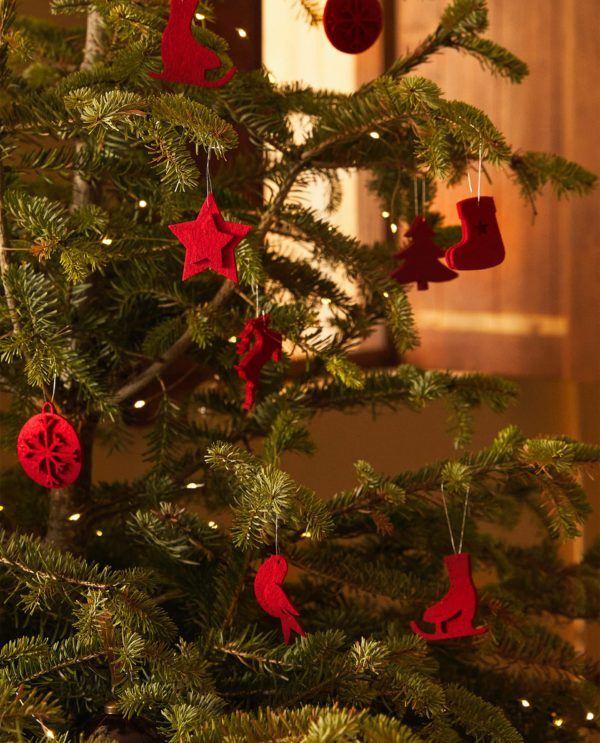 Decoracion de navidad 2020 2021 decoracion arbol fieltro zara home