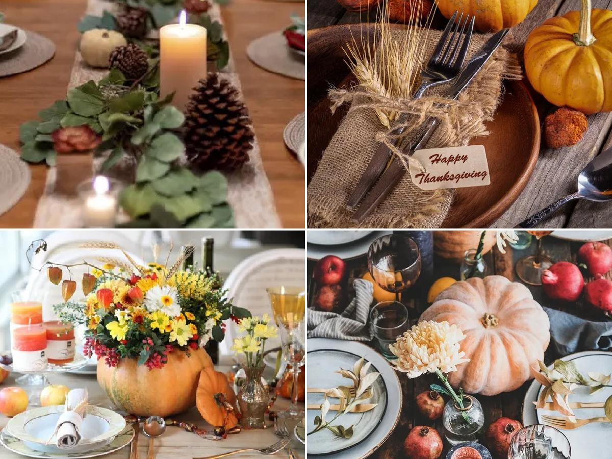 Decorar mesa para Acción de Gracias 2020