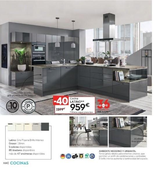 Catalogo CONFORAMA cocinas 2021 cocina gris