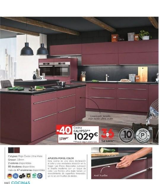 Catalogo CONFORAMA cocinas 2021 cocina rojo