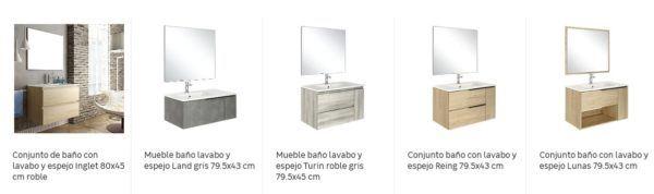 Catalogo Leroy Merlin baños 2021 pack mueble espejo