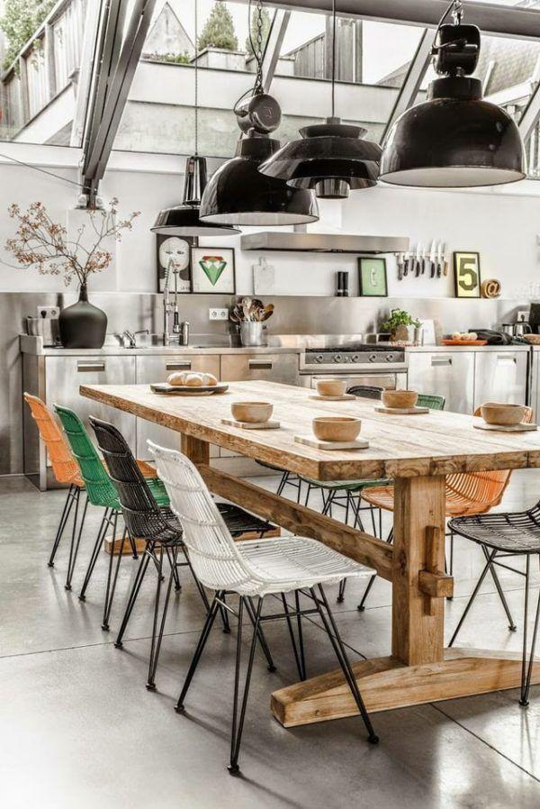 Cocina industrial sillas de colores