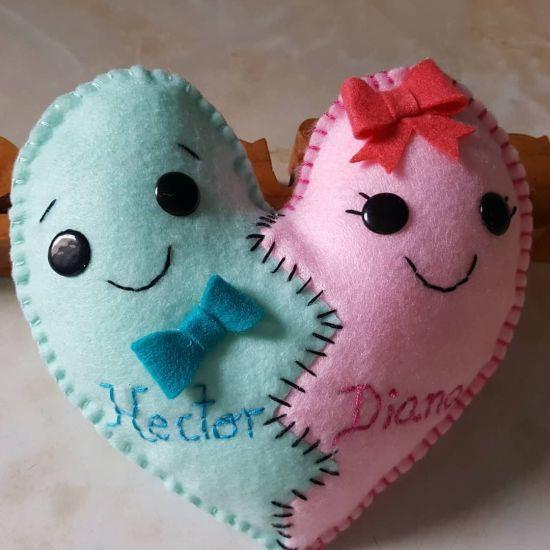 Muñeco corazón de dos