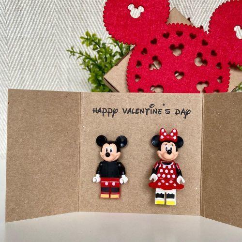 Manualidad San Valentín de Mickey y Minnie
