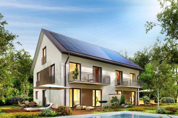 Ideas de fachadas de casas modernas fotos e ideas bonitas casa con paneles solares