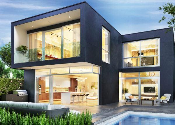 Ideas de fachadas de casas modernas fotos e ideas bonitas casa cubo azul