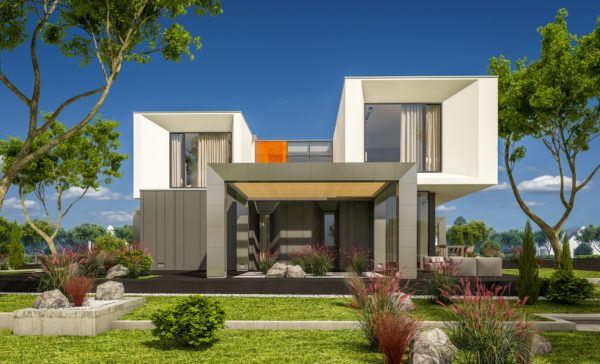 Ideas de fachadas de casas modernas fotos e ideas bonitas casa cubo gris blanco