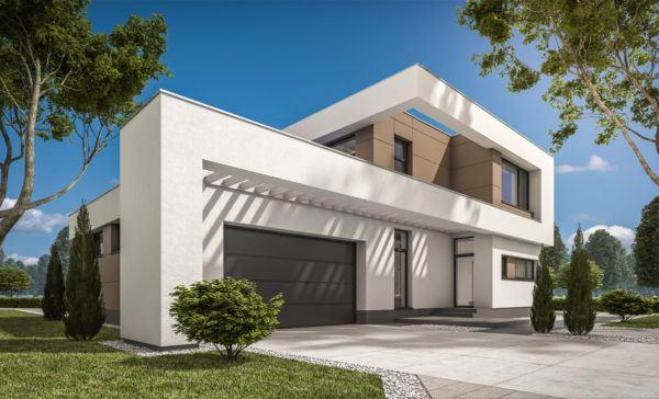 Ideas de fachadas de casas modernas fotos e ideas bonitas casa estructura S blanca