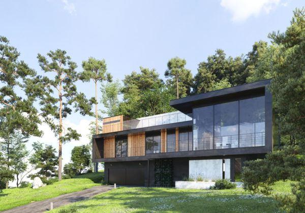 Ideas de fachadas de casas modernas fotos e ideas bonitas fachada con grandes ventanas